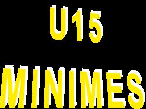 Résultats U15-MINIMES